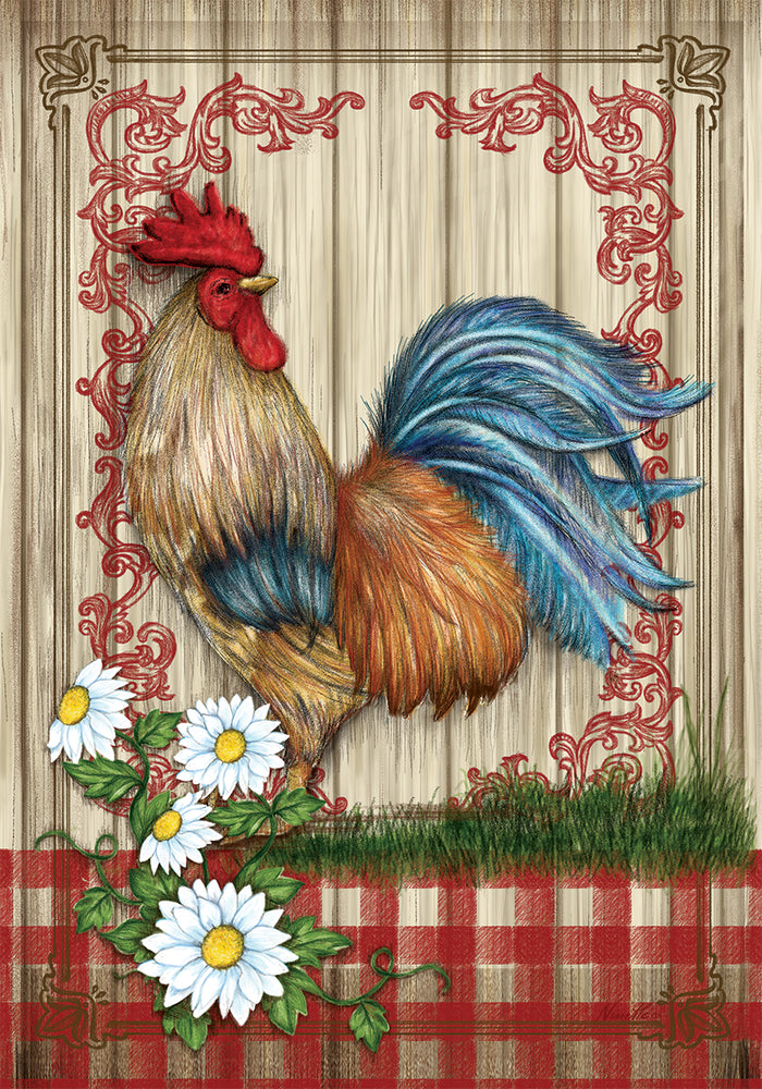COUNTRY HOME ROOSTER BANNER FLAG