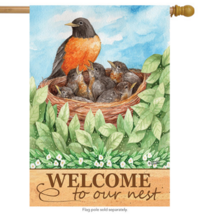 ROBIN WELCOME DECORATIVE FLAGS
