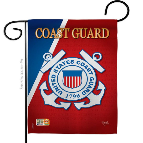 US COAST GUARD GARDEN FLAG