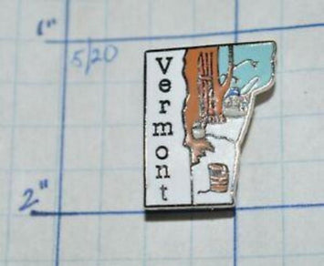 VERMONT SHAPED LAPEL PIN