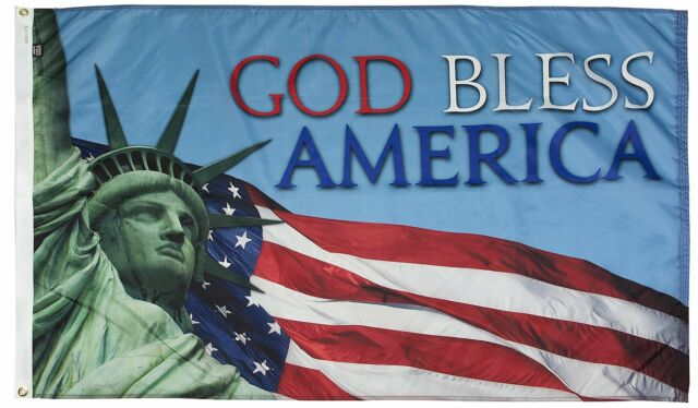 3X5 FT GOD BLESS AMERICA FLAG