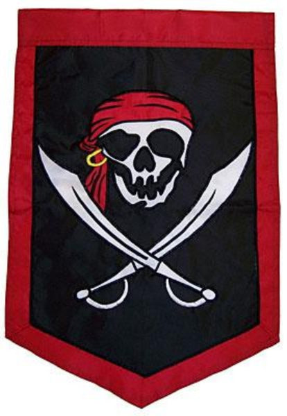 I'M A JOLLY ROGER APPLIQUE DECORATIVE FLAGS