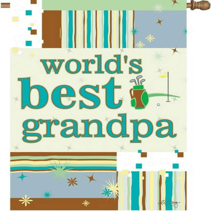 WORLD'S BEST GRANDPA BANNER FLAG