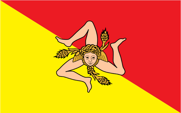 traditional flag of sicily flag