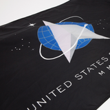 close-up of Space Force flag