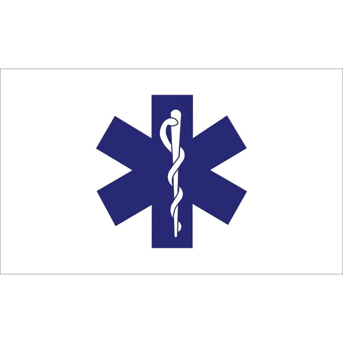 3'x5' Star of Life Nylon Flag