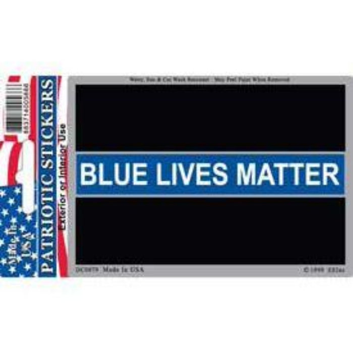 STICKER WITH THE ORIGINAL THIN BLUE LINE FLAG AND TEXT THAT SAYS