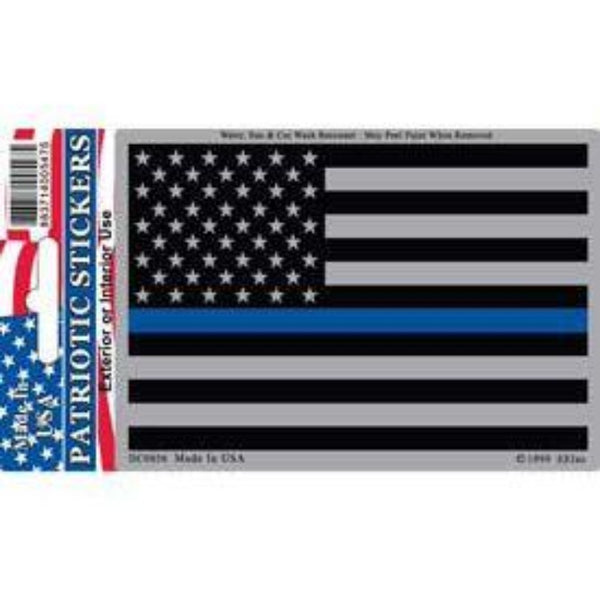 thin blue line flag with a holographic border and stripes
