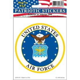 US AIR FORCE CIRCLE EMBLEM STICKER