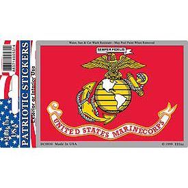 US MARINE CORPS HORIZONTAL STICKER