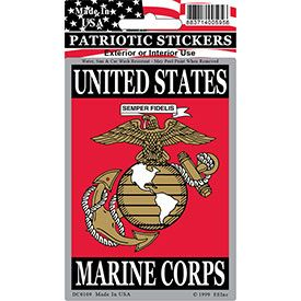 US MARINE CORPS VERTICAL STICKER
