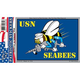 US NAVY SEABEES REFLECTIVE DECAL