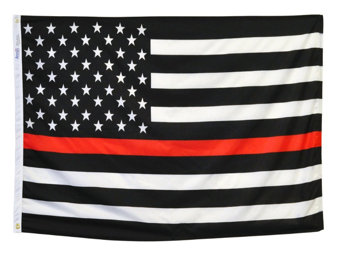 Thin Red Line Nylon US Flag