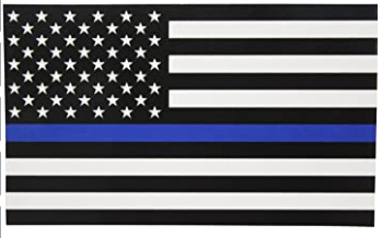 THIN BLUE LINE US DECAL (ACE FLAG)