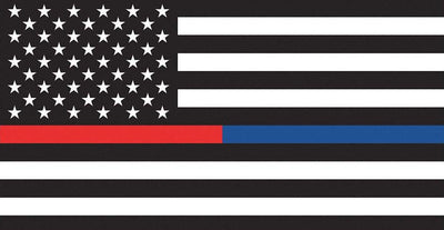 Thin Red And Blue Line US Decal