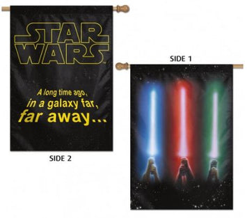 Disney Star Wars Double-Sided Light Saber Banner Flag