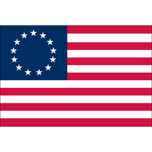 Betsy Ross Dyed Nylon Flag