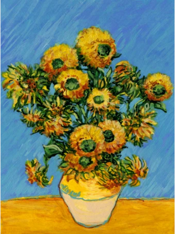 VAN GOGH'S SUNFLOWERS DECORATIVE FLAG