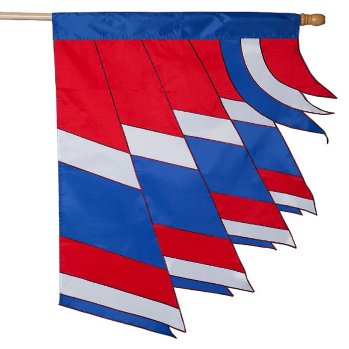 patriotic wind spinner banner flag applique