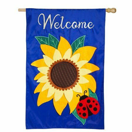 Sunflower Garden Applique Banner Flag