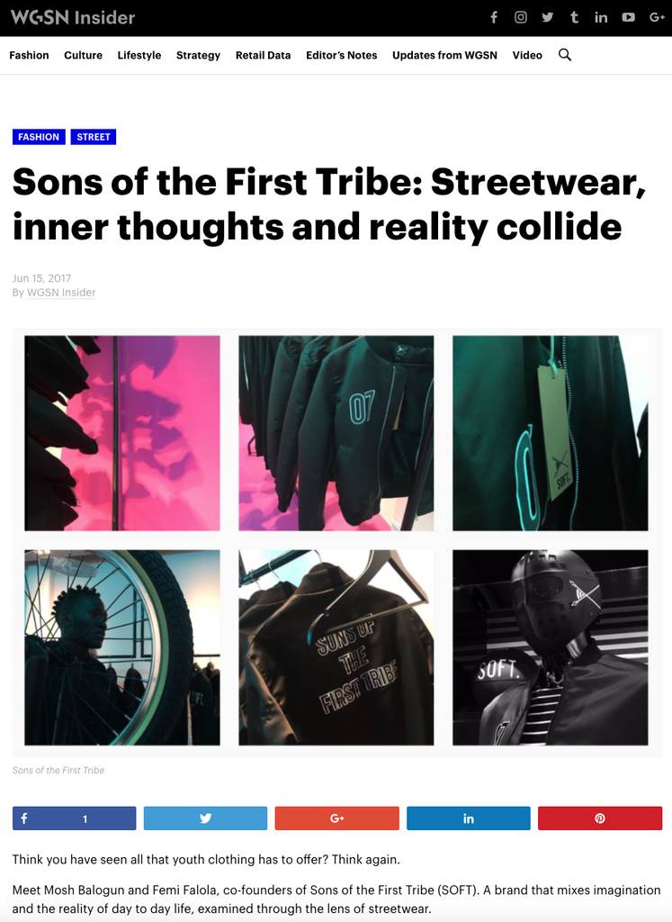 WGSN Q&A WITH SONS OF THE FIRST TRIBE®