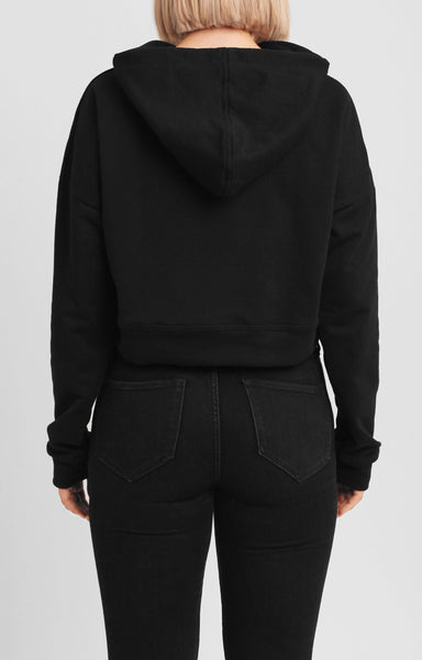 SO SOFT CANNES CROP TOP HOODIE