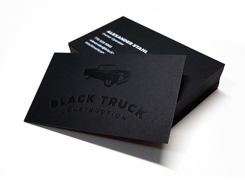 Blcak Truck Construction