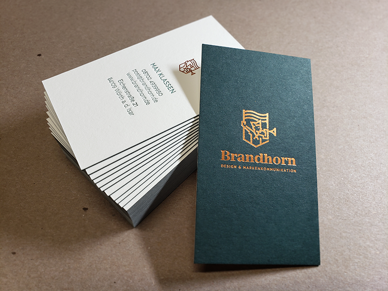 Letterpress Business Cards, Duplex Business Cards