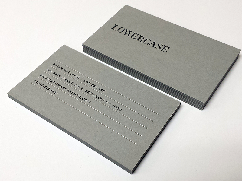 Lowercase fino print grey business cards reheart Image collections