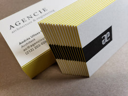 Letterpress Business Cards, Edge Painting