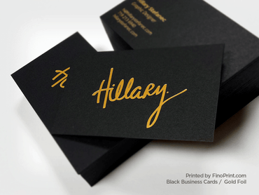 Black Business Card, Gold Foil