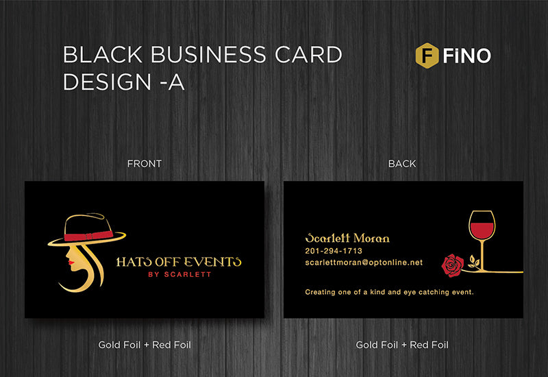 Black Business Card design