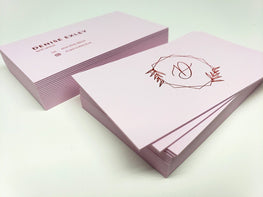 Pastel Pink Letterpress Business Cards