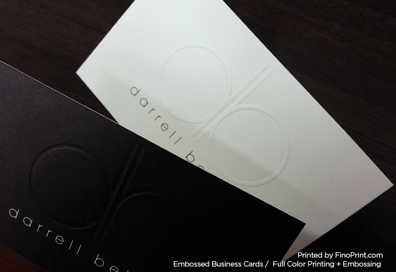 Embossed Business Cards, Full color Printing, Embossing