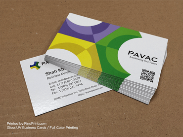 Gloss UV Business Cards, Full-color Printing, 16pt Paper