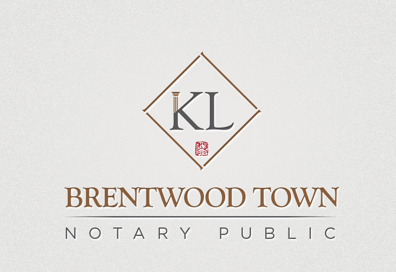 Fino Print-Logo Design-KL Brentwood Town Notary Public