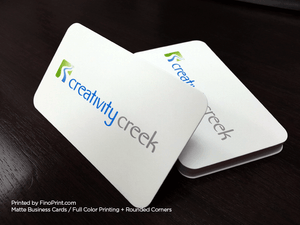 Matte Business Cards, Full-Color Printing, Rounded Corner, 16pt Paper