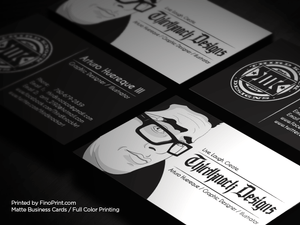 Matte Business Cards, Full-Color Printing, 16pt Paper