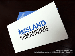 Raised Ink Business Cards, Full-color Printing, 16pt, Thermography