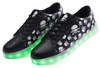 Glowing LED Skull Shoes