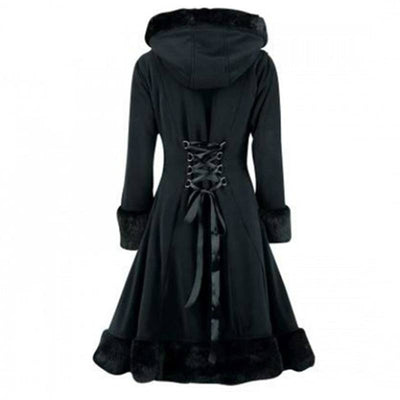 Gothic Black Hooded Coat