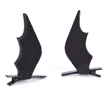 Black Bat Wings Hair Clips