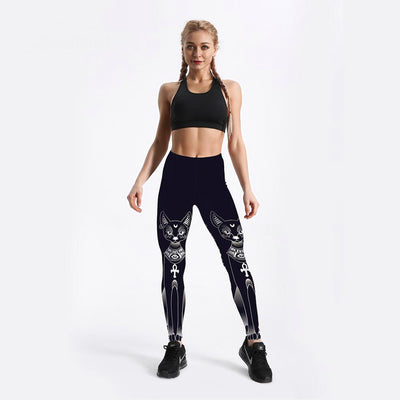 Black Cat Elasticity Leggings
