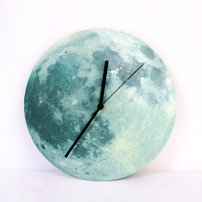 Creative Changing Luminous Moon Wall Clock