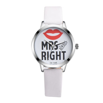 Mr. and Mrs. Right Wrist Watch