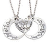 Love Mother Daughter Moon Necklace Set