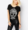 """Live Free, Die Trying"" Skull T-shirt"