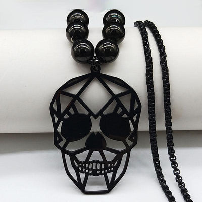 Black Skull Hollow Necklace