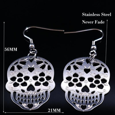 Skull Hollow Earrings