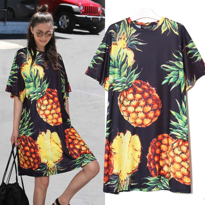 Casual Pineapple Loose Dress